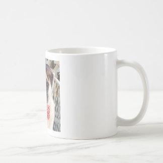 Pug in a wig coffee mug