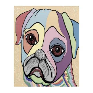 PUG in DENIM Tones Acrylic Wall Art