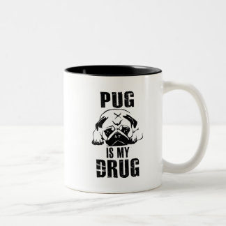 Pug is my Drug Two-Tone Coffee Mug