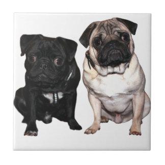 Pug Jack and Richi Ceramic Tile