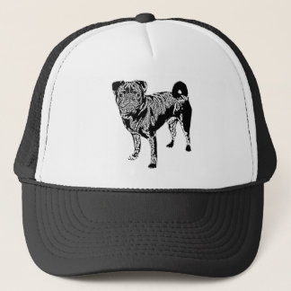 Pug Jack mono chrome Trucker Hat
