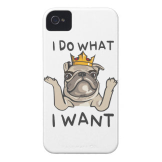 PUG KING Villi Case-Mate iPhone 4 Cases
