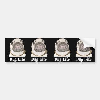 Pug Life Car Bumper Sticker