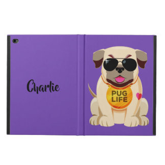 Pug Life custom name & color device cases