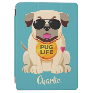 Pug Life custom name & color device covers iPad Air Cover