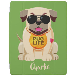 Pug Life custom name & color device covers iPad Cover
