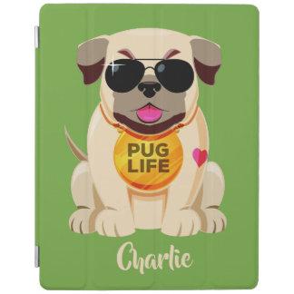 Pug Life custom name & color device covers iPad Cover