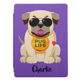 Pug Life custom name & color device covers iPad Pro Cover