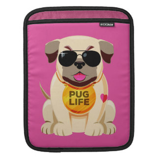 Pug Life custom name & color device sleeves