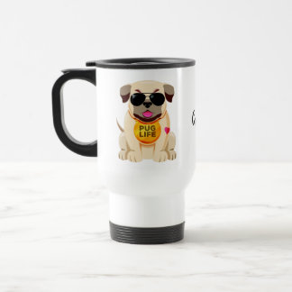 Pug Life custom name mugs