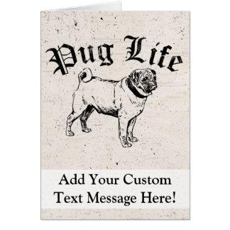 Pug Life Funny Dog Gangster Card