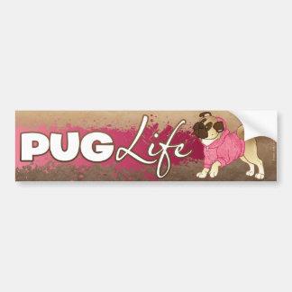 """Pug Life"" Pug Hoodie Bumper Sticker"