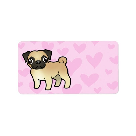 Pug Love Address Label