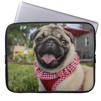 Pug Love Bandana Print Laptop Sleeve