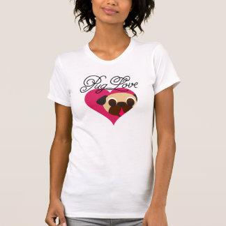 Pug Love Fawn Pug In Heart T-shirt