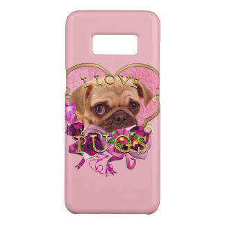 Pug Love in Pink Heart Samsung Galaxy S8 Case-Mate Samsung Galaxy S8 Case
