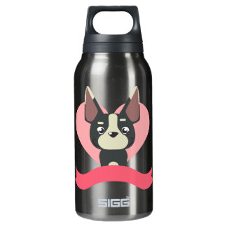 Pug Love Insulated Water Bottle