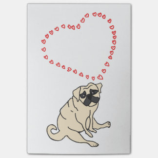 Pug Love Post-it Notes