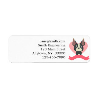 Pug Love Return Address Label