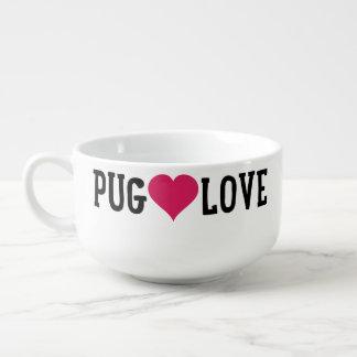Pug Love Soup Cereal Bowl