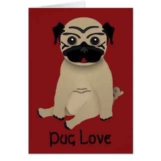 Pug Love Valentines Card