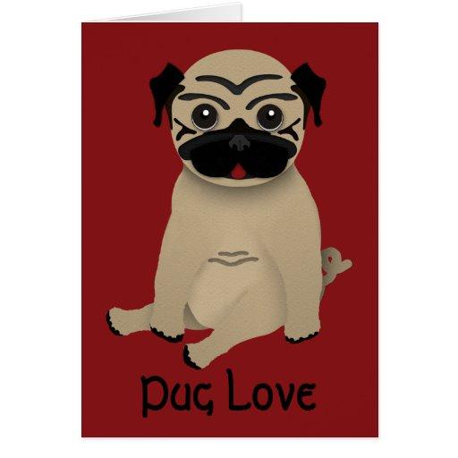 Pug Love Valentines Card