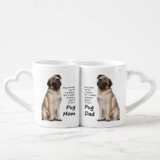 Pug Mom and Dad Lovers Mugs