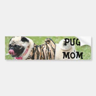 Pug Mom Bumper Sticker