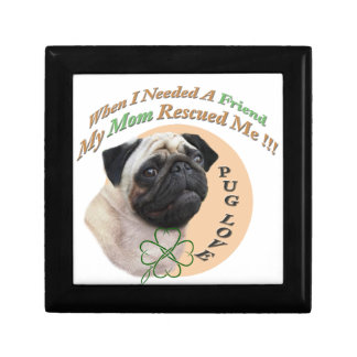 Pug Mom Rescued Me Gifts Gift Box