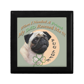 Pug My Dad Rescued Me Gift Box