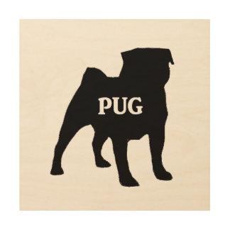 pug name silo wood wall art