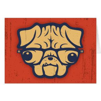 Pug Nerd Card