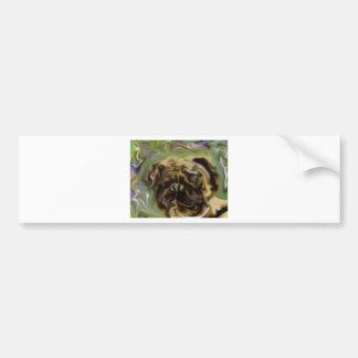 Pug Paint Bumper Sticker