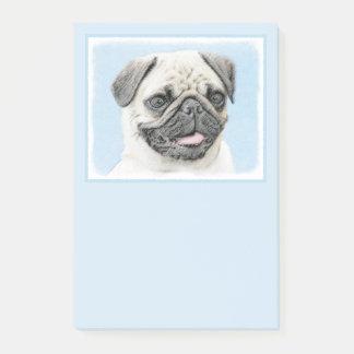 Pug Painting - Cute Original Dog Art Post-it Notes