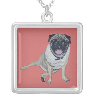 Pug Painting on a Necklace