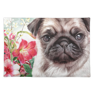 Pug Painting Placemat
