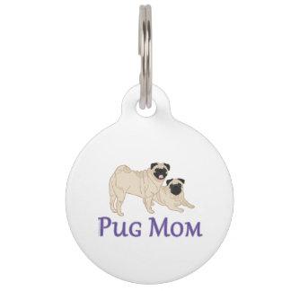 Pug Pair Dog Mom Pet ID Tag