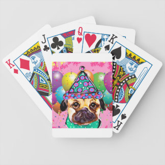 Pug Party Dog Bicycle Playing Cards