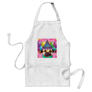 Pug Party Dog Standard Apron