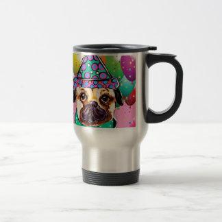 Pug Party Dog Travel Mug