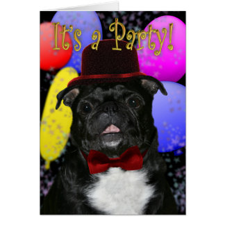 Pug party invitation