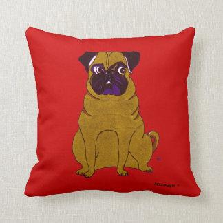 Pug Patrick American MoJo Pillow