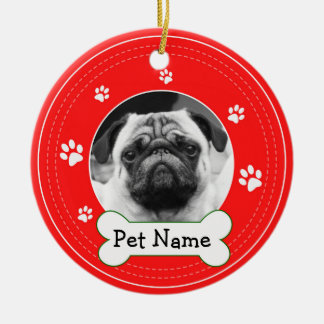 Pug Pet Dog Paws Ceramic Ornament