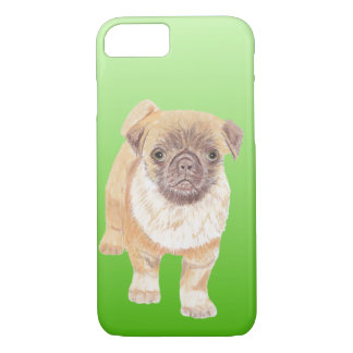 Pug phone cover, green iPhone 8/7 case