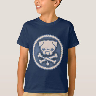 Pug Pirate -blu T-Shirt