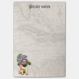 Pug Pirate Post-it® Notes