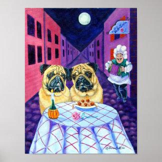 Pug Poster Wall Print