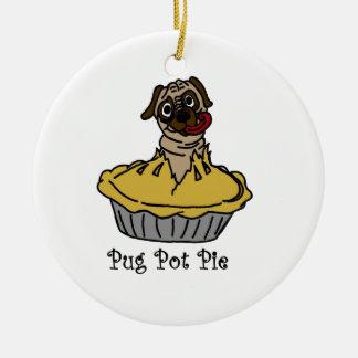 Pug Pot Pie Ceramic Ornament