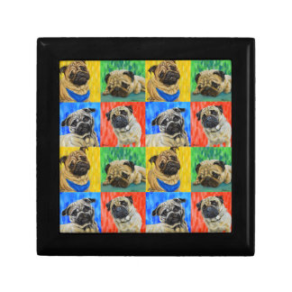 Pug Primary Repeating Pattern Gift Box