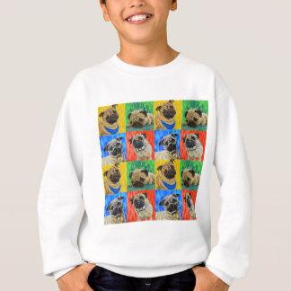 Pug Primary Repeating Pattern Sweatshirt